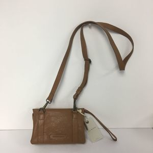 Lucky Brand Leather Chira Crossbody Bag Brown